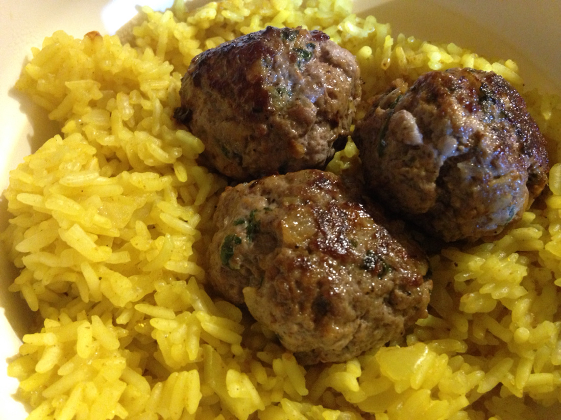 Curry curry and kefta meatballs